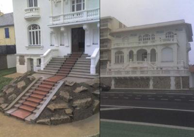 Agrandissement escalier Monuments historique La Baule (2006)