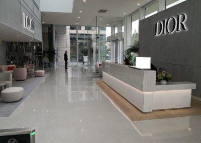Nouveau siège Christian Dior Paris - Sols coulés, habillages muraux et escaliers (2019)